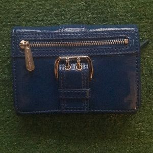 NWOT blue patent leather Michael Kors wallet